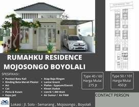 Rumah Baru (Pesan Bangun) Type 50/101 Harga Promo Mojosongo Boyolali