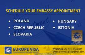 Visa Appointments - Booking ( Poland, Czech, Germany, Italy ).