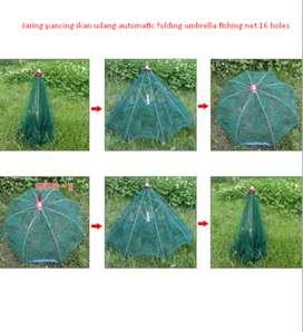 Jaring pancing ikan udang automatic folding umbrella fishing net 16 ho