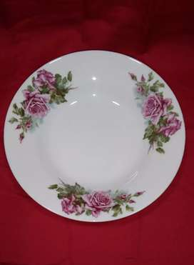 Piring Makan Jadoel Motif bunga Mawar Pink