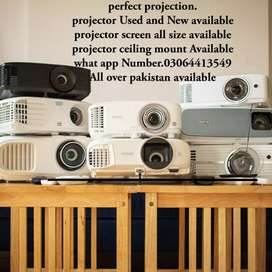 HD Projector available in  good condition and  new screen available