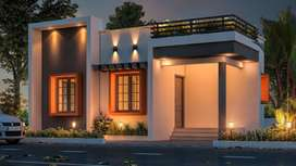 COCHIN AIRPORT ATHANI MEKKAD. 2BHK, 1000sqrft, 4 CENT VILLA FOR SALE