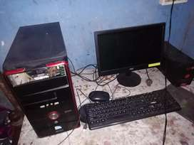 Monitor LCD 19 inc, CPU INTEX HARD DISK 500 RAM 2 GB UPS MOUSE KEYBOAR