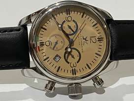 RARE BELL-O  AND PRECIS-O CHRONO STAINLESS STEEL MENS WATCH