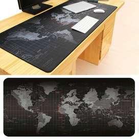 Gaming Mouse Pad XL Desk Mat Motif Peta Dunia Ukuran Besar 40cm x 80cm