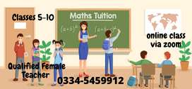 Online Maths tutor o and a level class 1 to 10