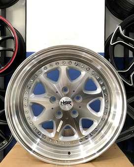 Jual velg mobil Mercy ring 17 tipe Bavaria HSR warna silver