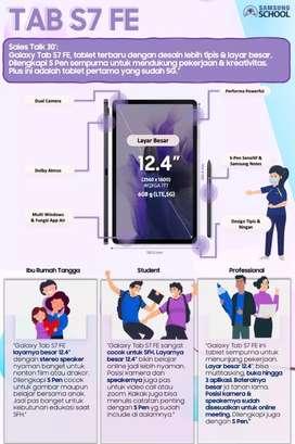 Samsung Tab s7 fe 5G 6/128gb GARANSI RESMI DAN TERMURAH