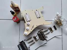 pickguard HH set tinggal pasang ,dryer gold, tremolo semi updwon jpn