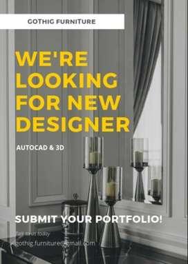 Dibutuhkan Designer dan drafter Interior Design
