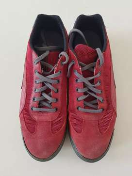 Red color shoes