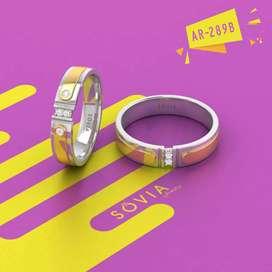 Cincin couple tunangan kawin platinum emas kuning emas putih palladium