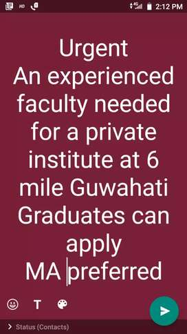 Social science faculty needed.