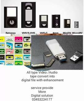 VCR All type of video tape converted into digital file