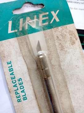 linex 4801 art knives ck 100, kondisi baru cuma kemasan kotor.