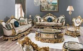 Luxury classic kursi tamu ukir mewah