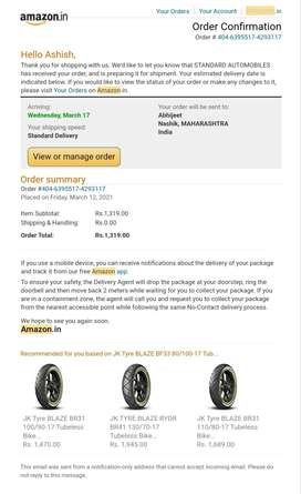 Brand New tyre 80/100 - 17 tubeless front