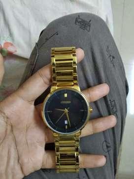 ORIGINAL CItizen watch (Gold) Rs,5000 MTO=Rs 8000