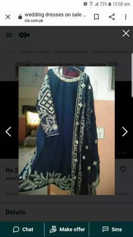 Beautiful embroided suit Wid mirror work  for sell.