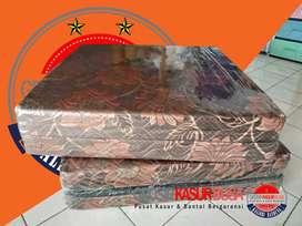 kasur busa lipat 2 ukuran 90x180x10 warna coklat kain spring bed