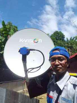 Servis pasang parabola antena tv besar mini gresik