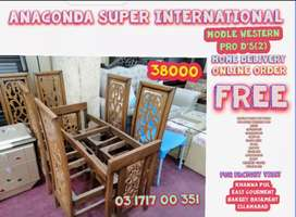 Dining Table Set Hi Class Center Table Set and Wood Furniture Factory