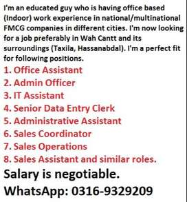 Experienced Office/Business Assistant Looking For A Job