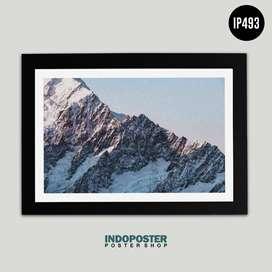 IP493 Poster Hiasan Dinding Scandivanian Norway Gunung 45x30cm