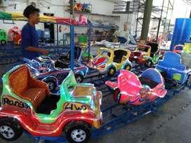 kereta panggung mainan anak odong komedi putar mobil fiber SW2