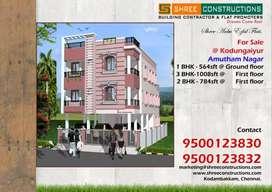 1bhk flat for sale at kodungaiyur
