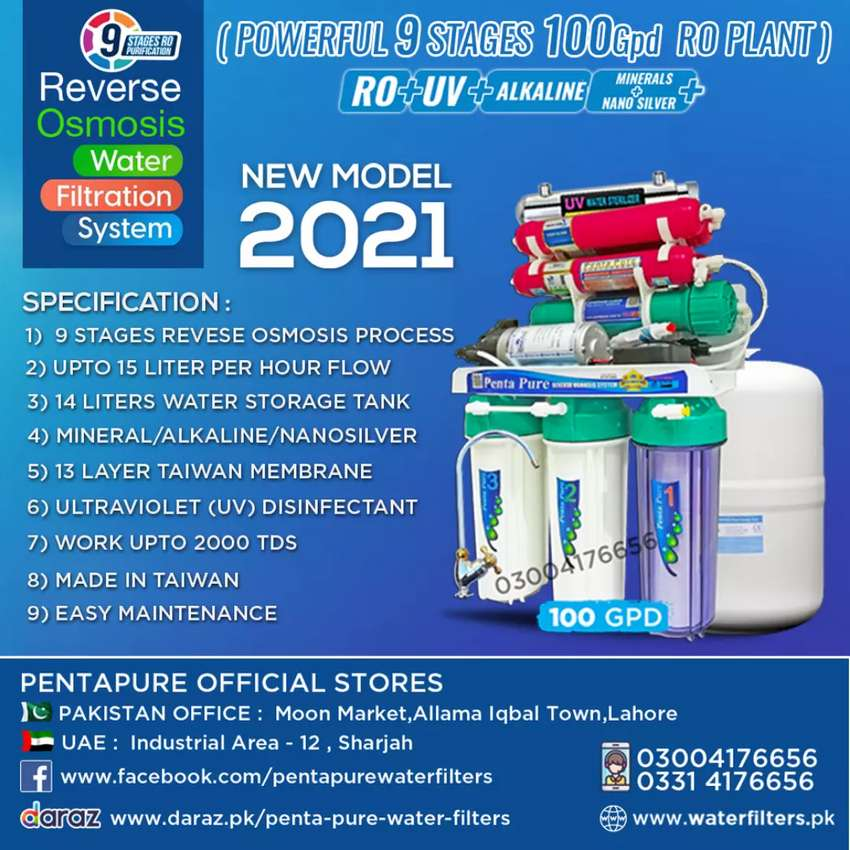 PentaPure Taiwan 9 Stages Ro Plant - Best Water Filter for Home