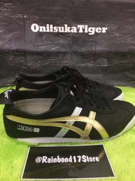 Sepatu onitsuka Tiger Mexico 66 black gold second size 41.5