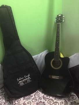 A guitar in pristine condition