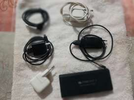 Apple,HTC and MI charger with two other data cables