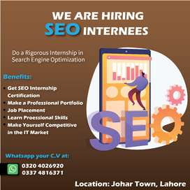 Internship to Become a Search Engine Optimization (SEO) Expert