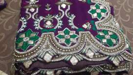 Stone work saree only cash payment