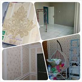 Wallpaper Dinding Kredit, Vinyl Kredit, Parkit kredit, window blind