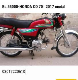 HONDA CD 70  MODEl 2017.KM.23000