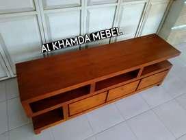 Ready Buvet Tv Minimalis Bahan Kayu Jati Monggo @685