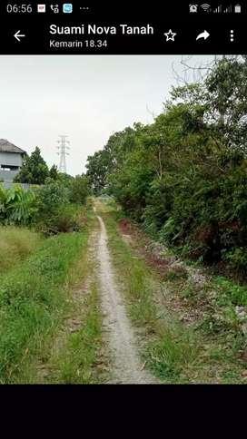 Di jual tanah ukuran 40x30 m di kelilingi perumahan, tanah datar,