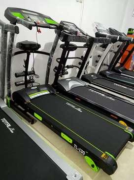 Treadmill listrik 4 in 1 +dumbel Ready