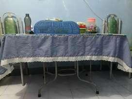 Meja Makan (Kaca) + 2 kursi