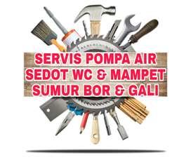 Servis pompa air sumur bor gali suntik sedot wc service saluran mampet