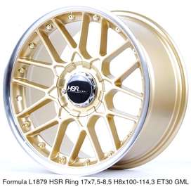 jual velg hsr formula ring 17x75/85 hole8 et30 GOLD/ML