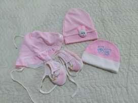 Topi baby pink 1 set