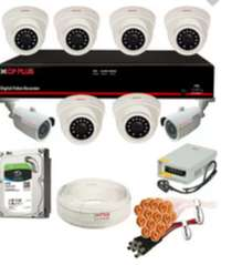 Cp Plus Astra 8 Camera 2.4MP CCTV Combo Set with HDD, Cable, Powersupp