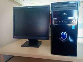 I3 system ful set 500gb hdd 4gb ram 17inc lenovo monitor