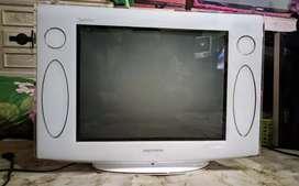 TV TABUNG POLYTRON SLIM 21 NORMAL LENGKAP REMOT