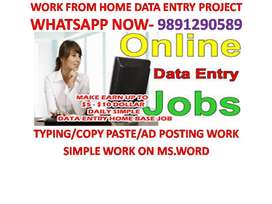DATA ENTRY 4000 TO 8000 WEEKLY Payment Home Based job