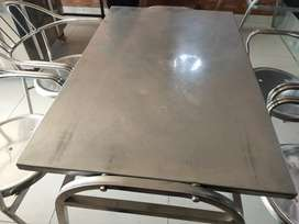 Steel chairs and tables